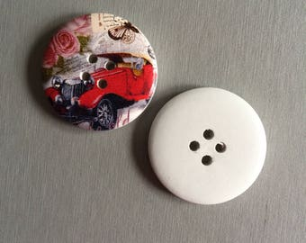 button: printed wood button STICKERS