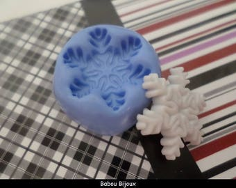 New snowflakes! mold for polymer clay 1.8 cm