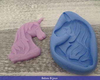 Mold for about 6 cm Unicorn head