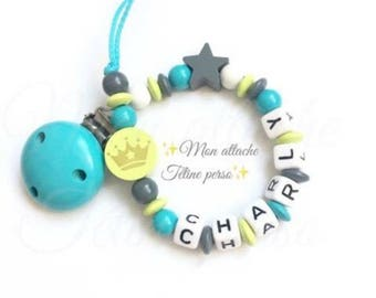 """personalized wooden pacifier ~ Crown """"Charlie"""""""