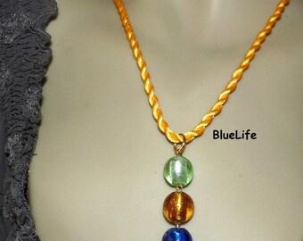 Necklace Brazilian colors of Brazil Brazilian green yellow blue beads on etsy jewelry