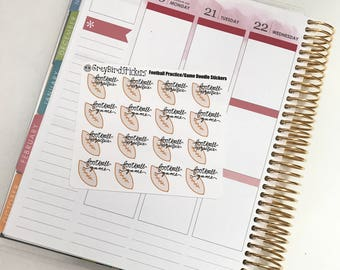 Football Game/Practice Stickers for Planners, Journals and More!
