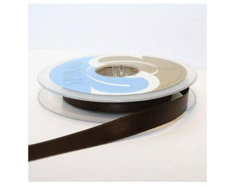 Ribbon stripe double sided 11mm Brown sold by 2 meter - 000432