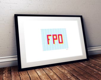 FPO Screen Print / Typography Print
