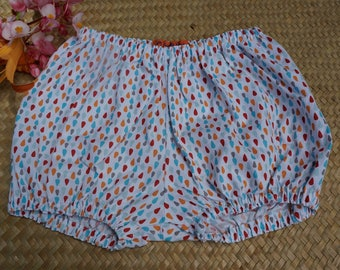 Bloomers in cotton light graphic style with droplets for two year old