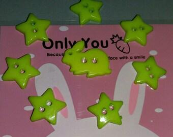 original set of 8 buttons Apple green