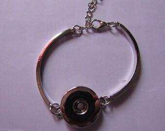 silver bracelet for snap 18mm / 20mm
