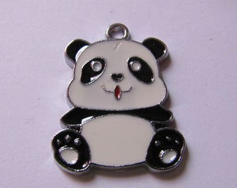 Pendant black white panda 26mmx21mm