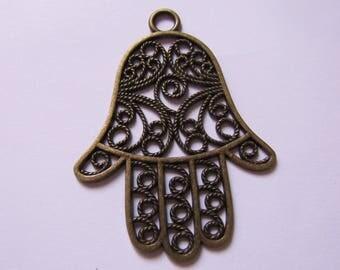 Bronze hand 57mmx42mm pendant