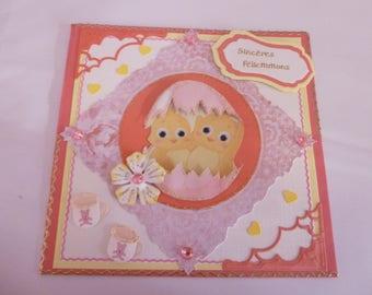 "2017137 birth card ""hatching chicks"""