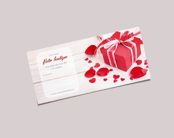 Red to join in your package - graphic Communication customizable gift card