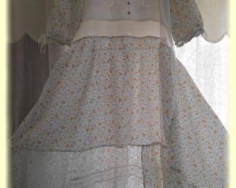 long beautiful scale shabby chic dress