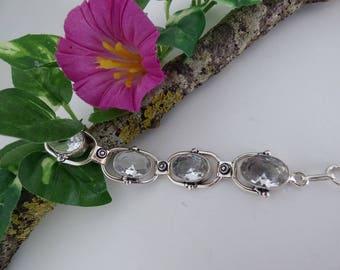 Very nice bracelet in silver and quartz