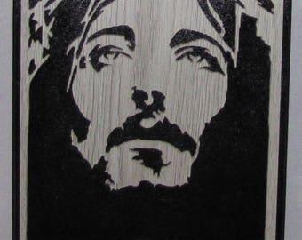 Craftsmanship of a portrait on the crucifixion of Jesus of Nazareth
