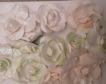 Glitter paper flowers