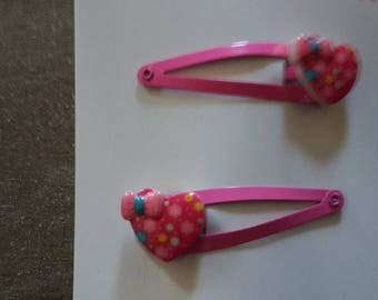 Hearts and small bow clips