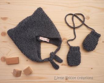 SUR COMMANDE Bonnet bébé//snood//moufles//jambières//bandeau bébé//chaussons (3 Mois 6/9 Mois 12/18 Mois 24 Mois) 28 coloris
