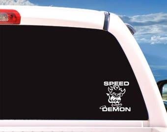 Speed Demon decal, cartoons,cartoon characters,vinyl stickers,vinyl sticker,vinyl decals,car decal,stickers,decals,decal,cool stickers