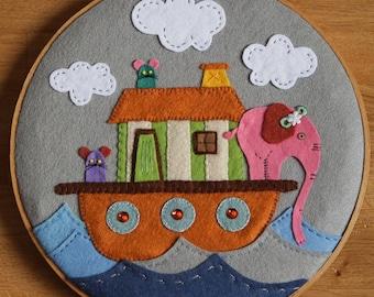 Embroidery hoop: Noah's Ark