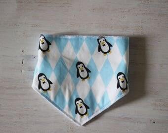 Blue Penguin bib bandana