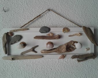 Wearing jewelry, shells and Driftwood
