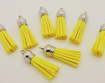 35mm yellow suede tassel