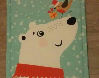 Blanket - baby model bear and bird blanket - baby blanket - handmade