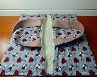 Pie door-dish(-flat) padded fabric bag