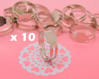 10 rings adjustable tray for polymer clay 8 mm