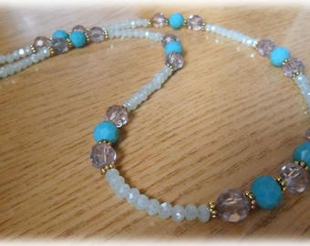 Indian style beads long necklace