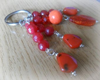 Red beads keychain