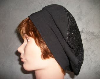 Hat beret made of jersey colors