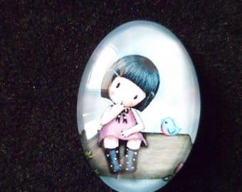 1 little girl Gorjuss 18 x 25 mm Dome cabochon