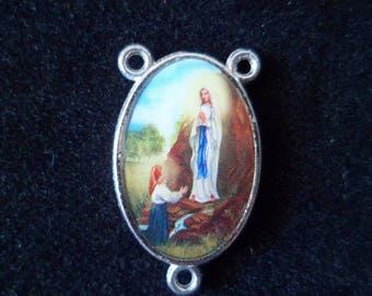 1 Rosary Center Double sided our Lady of Lurdes 23 mm