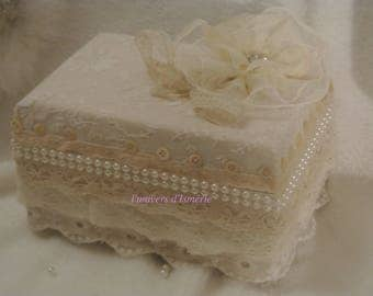 shabby wedding ring box