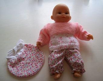clothing for infants of 30 cm, tidoo hug (pants, sweater, bib)