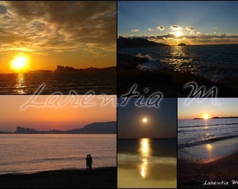 Photo 30X40cm jumble sunsets over the Mediterranean in the Var