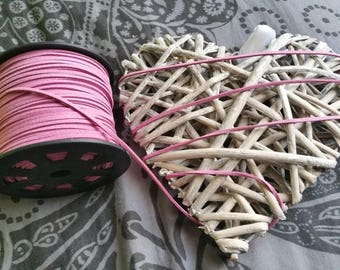 1 meter of 3x1.5mm pink suede cord