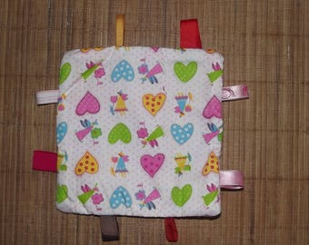 Taggy blanket for your baby, handmade.
