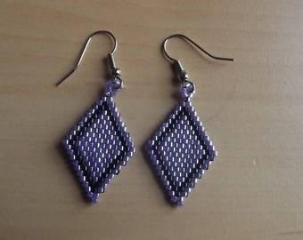 Miyuki bead earrings.