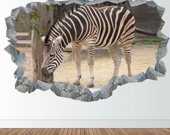 Zebra Wall Sticker Animal Decal 3D Vinyl Wall Sticker