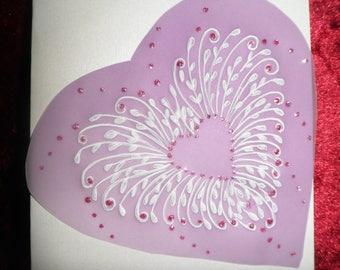 card any occasion in pergamano customizable heart pattern