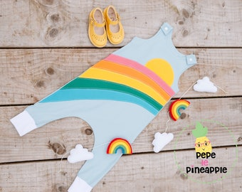 Rainbow sunshine romper