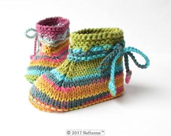 Chaussons multicolores en coton