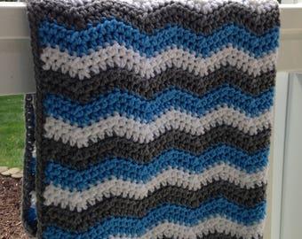 Chevron Baby Blanket/Crib/Stroller