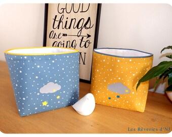 """Square fabric """"Dans les nuages"""" baskets"""