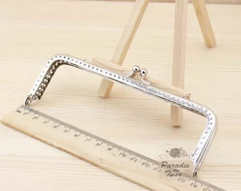 2 x bag rectangular 15cm square Angle silver Metal clasps
