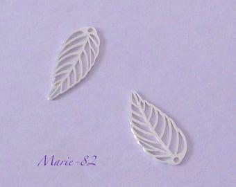 1 sheet / Mini charm 15 X 7 mm - sterling silver