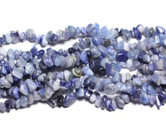 about - 110pc beads rock Chips Aventurine blue No. 4-10mm 4558550002662 1²
