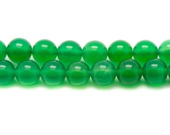 5pc - stone beads - green Onyx balls 10mm 4558550037619